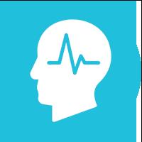 Blue Medical Rehabilitation Icon